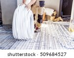 pipe fitter mounted underfloor... | Shutterstock . vector #509684527