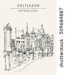 bridge in amsterdam  holland ... | Shutterstock .eps vector #509684887