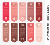 infographic template red 10... | Shutterstock .eps vector #509713393