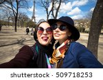 mother and adult daughter are... | Shutterstock . vector #509718253