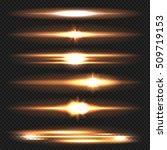 blue horizontal lens flares...   Shutterstock .eps vector #509719153