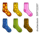 socks set with different color... | Shutterstock .eps vector #509722207