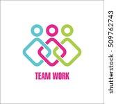 team work logo design template | Shutterstock .eps vector #509762743