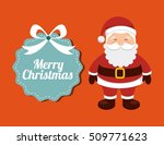 happy merry christmas card... | Shutterstock .eps vector #509771623
