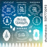 christmas decorations vector... | Shutterstock .eps vector #509773093