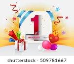 1st anniversary celebration... | Shutterstock .eps vector #509781667
