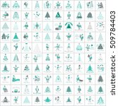 christmas icons set  isolated... | Shutterstock .eps vector #509784403