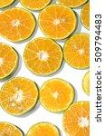 nice oranges slice in many... | Shutterstock . vector #509794483