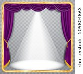 vector purple velvet stage with ... | Shutterstock .eps vector #509804863