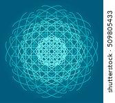 dna molecule. atom. sacred... | Shutterstock .eps vector #509805433