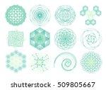dna molecule. atom. sacred...   Shutterstock .eps vector #509805667