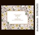 vintage delicate invitation... | Shutterstock .eps vector #509813653