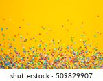 frame made of colored confetti. | Shutterstock . vector #509829907
