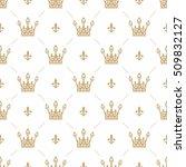 seamless pattern in retro style ... | Shutterstock .eps vector #509832127