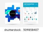 geometric background template... | Shutterstock .eps vector #509858407