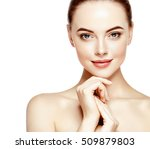 portrait of beautiful woman on... | Shutterstock . vector #509879803