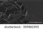 wire frame landscape | Shutterstock .eps vector #509882593