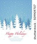 vector background  happy... | Shutterstock .eps vector #509909707