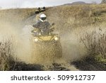travel on atvs in a part of... | Shutterstock . vector #509912737