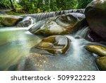 Waterfall With Water Splashing...