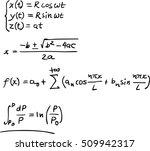math formulas | Shutterstock .eps vector #509942317