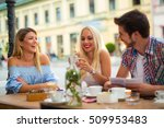 group of young people laughing... | Shutterstock . vector #509953483