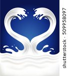 couple of milk waves creating... | Shutterstock .eps vector #509958097