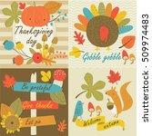 thanksgiving day in vector set... | Shutterstock .eps vector #509974483