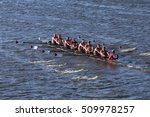 Small photo of BOSTON - OCTOBER 22, 2016: Marist races in the Head of Charles Regatta Men's College Eights [PUBLIC RACE]