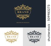 monogram design elements ... | Shutterstock .eps vector #509983273
