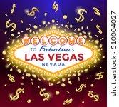 las vegas sign on the dark... | Shutterstock .eps vector #510004027