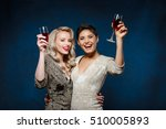 two beautiful girls in evening... | Shutterstock . vector #510005893