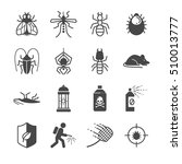 insects and pest control icons. ... | Shutterstock .eps vector #510013777