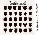 vector heraldic shield set  30...   Shutterstock .eps vector #510013807