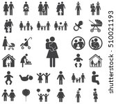 mother and child vector symbol... | Shutterstock .eps vector #510021193