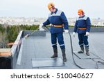 flat roof installation. heating ... | Shutterstock . vector #510040627