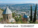 touristic landmark in tbilisi...   Shutterstock . vector #510048037