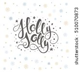 merry christmas lettering over...   Shutterstock .eps vector #510070873