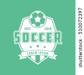 soccer emblem flat icon on... | Shutterstock .eps vector #510072397