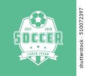 soccer emblem flat icon on... | Shutterstock .eps vector #510072397