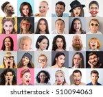collage of men  women and... | Shutterstock . vector #510094063
