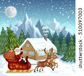 merry christmas card.... | Shutterstock .eps vector #510097003