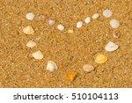 heart shape make from sea... | Shutterstock . vector #510104113