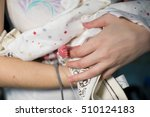 mother holding premature baby... | Shutterstock . vector #510124183
