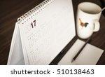 desktop calendar sitting on... | Shutterstock . vector #510138463