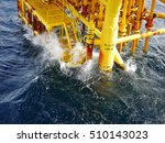 high wave hitting the boat... | Shutterstock . vector #510143023