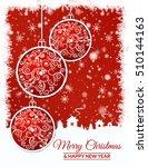 illustration. gold christmas... | Shutterstock . vector #510144163