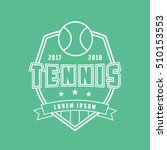 tennis emblem line icon on... | Shutterstock .eps vector #510153553