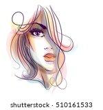 stylish  original hand drawn... | Shutterstock . vector #510161533