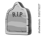 Gravestone With Rip Text Icon....